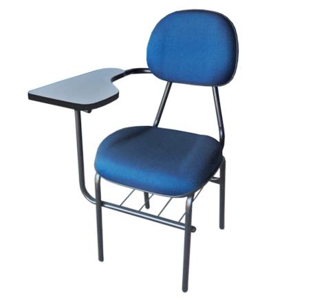 Cadeira universitária com braço simples estofada e gomada
