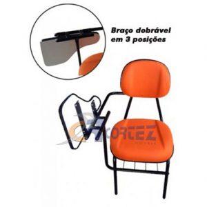 Cadeira universitária injetada gomada dobrável